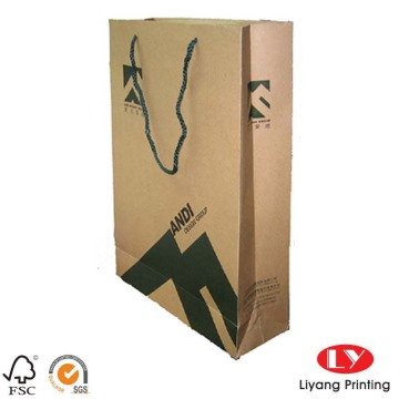 Custom made printed cheap kraft paper bags