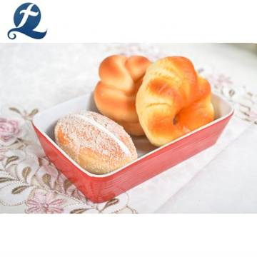 Colorful custom ceramic bakeware assorted baking pan set