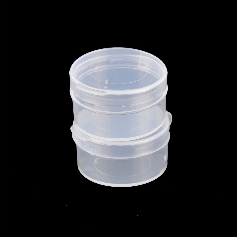 10pcs New Round Portable Jewelry Tool Box Container Ring Electronic Parts Screw Beads Component Storage Box