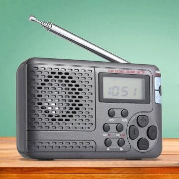 Portable Radio Am/Fm/Sw Pocket Radio with Lcd Sn Multi-Band Digital Stereo Dsp Radio Receiver