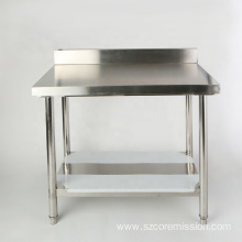 Height Adjustable Kitchen Using Stainless Steel Work Table