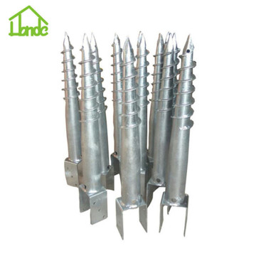 No digging galvanized U type ground screw