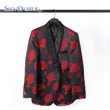 Iitalian Unique Rose Red Business Custom Suits Mens