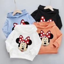 New Spring Autumn Baby Boys Girls Clothes Cartoon Minnie Hooded Sweatshirt Children's Kids Casual Sportswear Infant Clothing