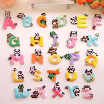 Cute English Letters embroidered patches cartoon applique