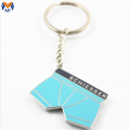 Promotional Gift Customized Metal Enamel Pants Keychain