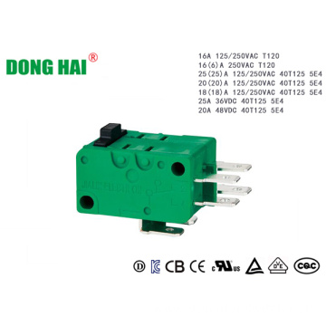 Long Life Multifunctional Micro Switch 16A