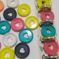 30Pcs Colorful Notebook Plastic Disc Binding Round Buckle Roll Mushroom Book Binding Disc DIY Office Supplies Storage