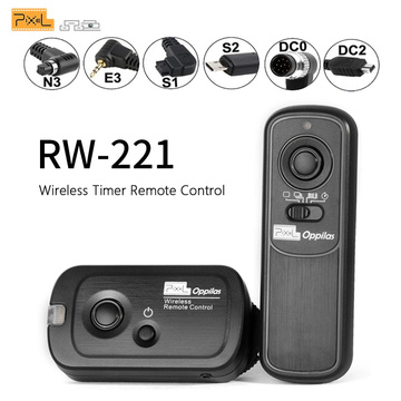 Pixel RW-221 Wireless Shutter Release Timer Remote Control (DC0 DC2 N3 E3 S1 S2) Cable For Canon Nikon Sony Camera VS TW283 RC-6