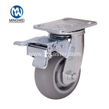 Gray 5 Inch TPR  Caster with lock