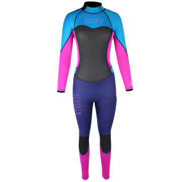 Seaskin 3/2mm Smooth Skin Back Zip Warm Wetsuit