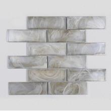 House White Cloud Pattern Glass Mosaic Entryway Tiles
