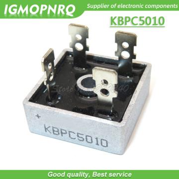 free shipping 1PCS KBPC5010 single-phase bridge rectifier bridge DIP 50A 1000V 100% new original