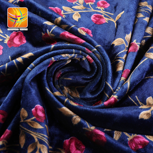 Nice Dark Colorful Velour Velvet Fabric