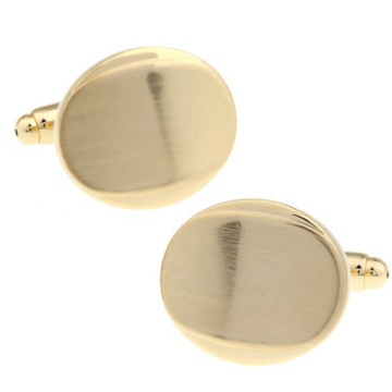 New Arrival High Quality Men Designer Cuff links Copper Material Golden Drawing Smooth Broad Bean Design CuffLinks Free Shipping
