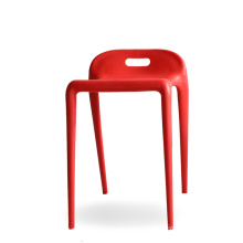 Low Back ABS Stackable Plastic Dining Chair