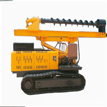 Crawler hydraulic screw pile driver