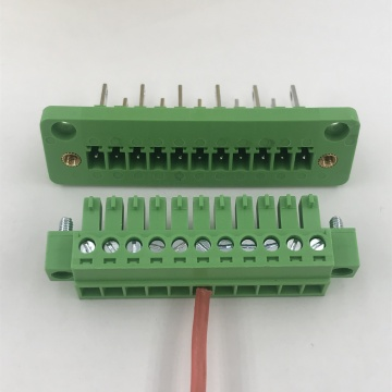 11 pin through wall plug-in terminal block