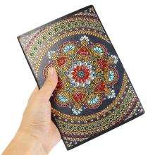 DIY Mandala Special Shaped Diamond Painting Notebook 50 Pages A5 Notebook for Student School Office Supplies