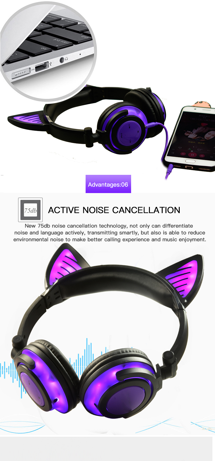 Bluetooth Headphones over Ear