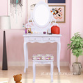 Modern Furniture Wood 4 drawers Make-Up Vanity Table mirror make up table
