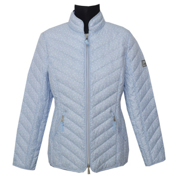 Ladies quilted Jacket printed
