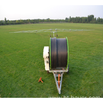 Sprinkling hose reel irrigation