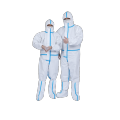 plastic personal protective equipment gown with hood