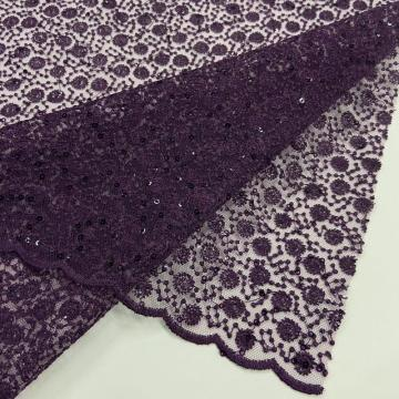 Gorgeous Allover Dots Sequins Embroidery Fabrics