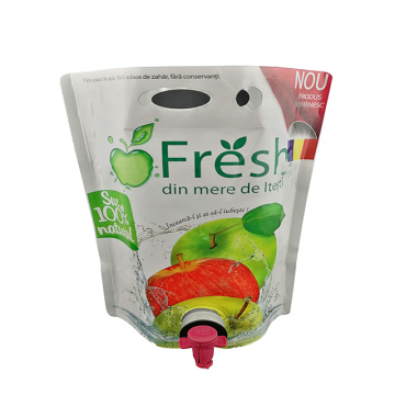 Custom plastic packaging-bags with valves for beverages