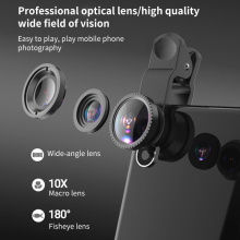 Wide Angle Macro Fisheye Lens Camera Kits Mobile Phone Fish Eye Lenses With Clip 0.67x For All Cell Phones For Droshipping