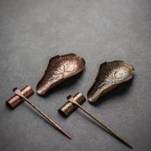 LUWU coffee and tea tools copper tea spoon coffee tea accessories