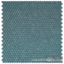 Hexagon Tile Glass Mosaic for Hotel Project
