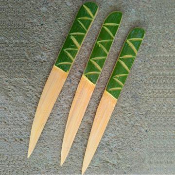 AIRCHR Natural Bamboo Knife 20cm Cake Cheese Mooncake Tricholoma Matsutake Knife Bamboo Kitchen Tool 10pcs/lot