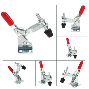 Metal Horizontal/Vertical Quick Release Hand Tool 60Lbs/110Lbs/198Lbs Antislip Toggle Clamp For Fixing Workpiece Hardware Tool