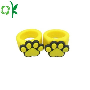 3D Cartoon Silicone Rings Embossed Ring for Kids