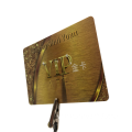 HF RFID Custom Printing Gold VIP Smart Cards
