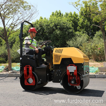 Soil compaction equipment Double drum vibratory roller for sale FYL-880