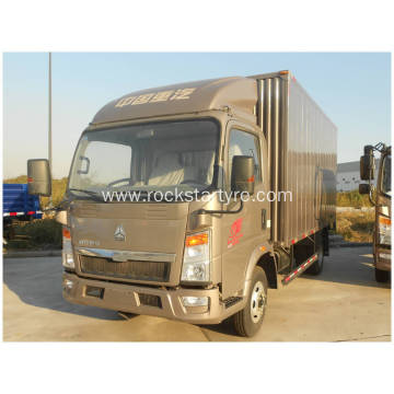 116HP HOWO SINOTRUK Light Duty Box Van Trucks