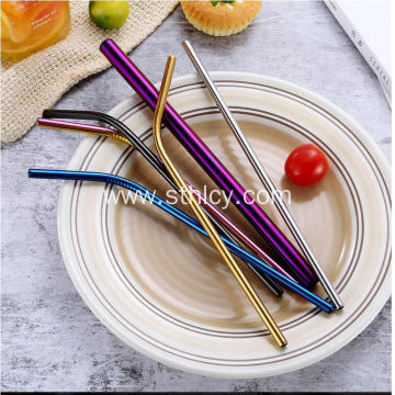 Food Grade 304 Color Stainless Steel Straws