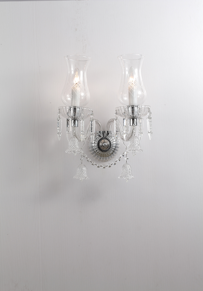 a crystal wall lamp