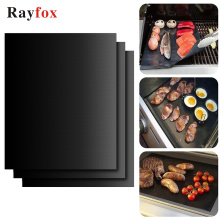 Kitchen Utensils Accessories 33*40cm Barbecue Grill Mat Reusable Non-stick Cooking Mats Covers Sheet Kitchen Gadgets Goods Item