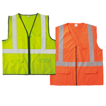 Safety vest 100% polyester tricot
