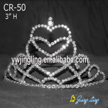 Holiday Heart Shape Pageant Crowns Tiaras