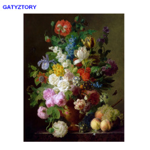 GATYZTORY Painting By Numbers For Adults Children Flower DIY Oil Coloring Paint by Number Landscape On Canvas Art Pictures