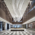 Yielding white large project hotel lobby chandelier