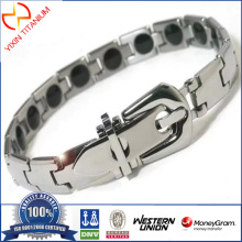 Trendy Titanium Magnetic Power Energy Balance Bracelet