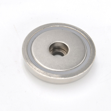 Neodymium Magnet Base with countersunk hole