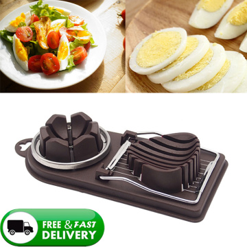 1PC Stainless Steel Egg Cutter Egg Slicers Multifunctional Fruit Vegetable Cutting Kitchen Accessories Slicing Cooking Gadgets