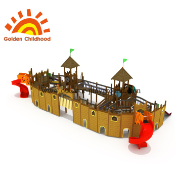 Ship Combination Outdoor Playground Equipment